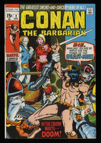 Conan The Barbarian #2 FN+ 6.5
