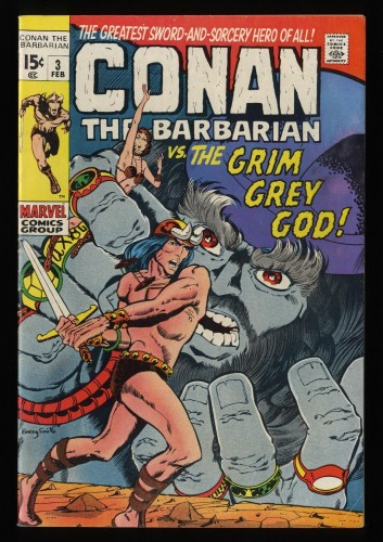 Conan The Barbarian #3 FN- 5.5 White Pages
