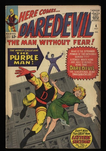Daredevil #4 VG/FN 5.0 1st Purple Man!