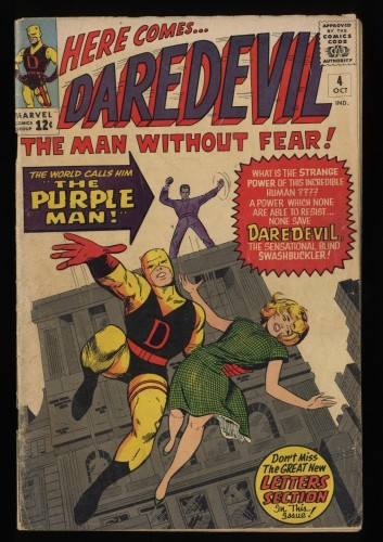 Daredevil #4 GD 2.0 1st Purple Man!
