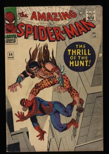 Amazing Spider-Man #34 VG+ 4.5 Kraven!