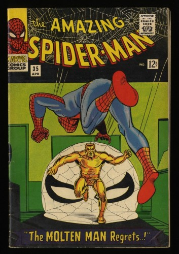 Amazing Spider-Man #35 VG+ 4.5 Molten Man!