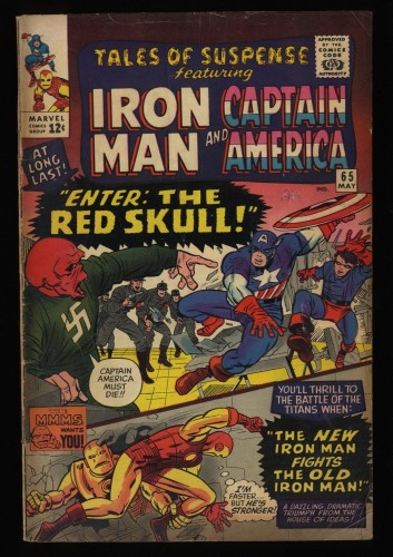 Tales Of Suspense #65 VG 4.0 Red Skull! Iron Man