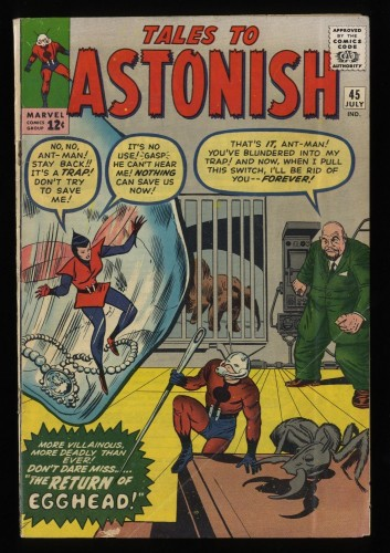 Tales To Astonish #45 VG 4.0 Ant Man!