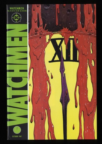 Watchmen #12 VF/NM 9.0 White Pages