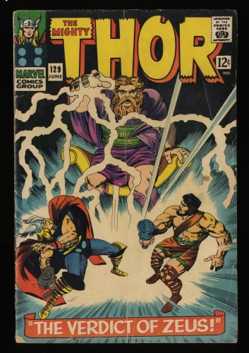 Thor #129 GD 2.0 Marvel Comics