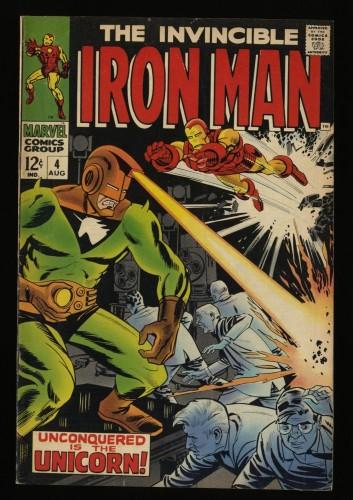 Iron Man #4 FN/VF 7.0 Marvel Comics 1st Unicorn!