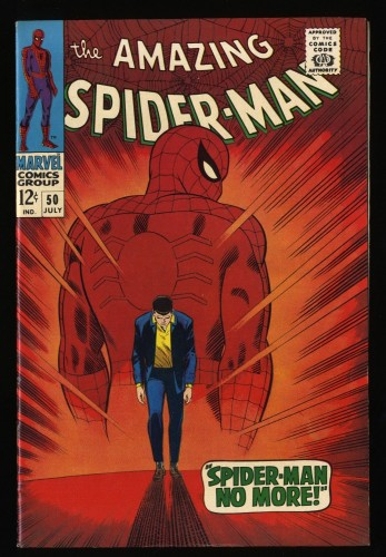 Amazing Spider-Man #50 VF 8.0 White Pages 1st Kingpin!