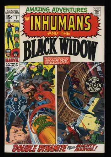 Amazing Adventures #1 FN/VF 7.0 Inhumans 1st Black Widow Solo!