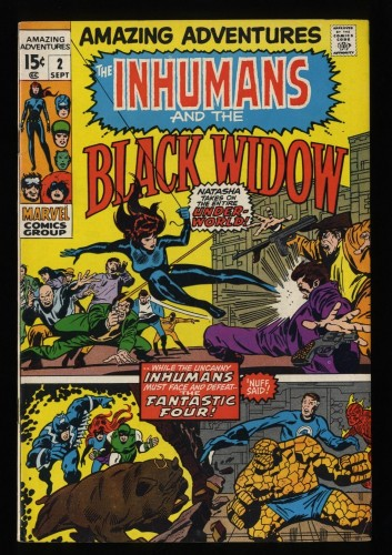 Amazing Adventures #2 FN/VF 7.0 Black Widow Inhumans!