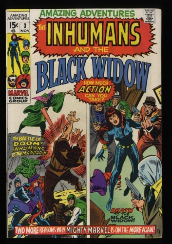 Amazing Adventures #3 VF+ 8.5 Inhumans Black Widow!