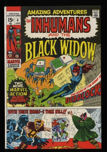 Amazing Adventures #4 FN 6.0 Inhumans Black Widow!