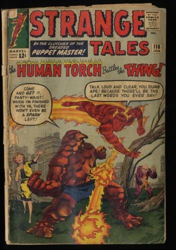 Strange Tales #116 P 0.5 Marvel Comics Nick Fury Doctor Strange Torch