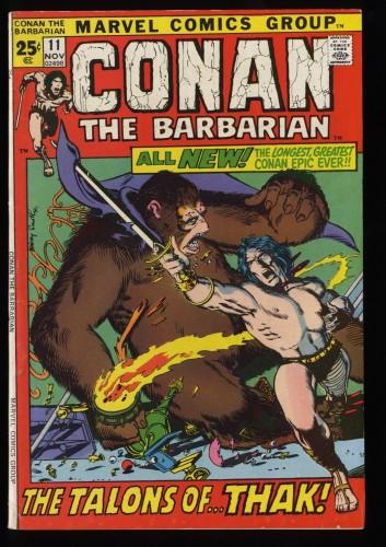 Conan The Barbarian #11 FN- 5.5 Marvel Comics