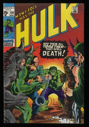 Incredible Hulk (1968) #139 FN+ 6.5 Marvel Comics