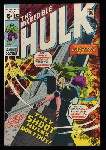 Incredible Hulk (1968) #142 VF 8.0 Marvel Comics Valkyrie Appearance!
