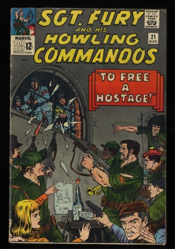 Sgt. Fury and His Howling Commandos #21 VG- 3.5 Marvel Comics