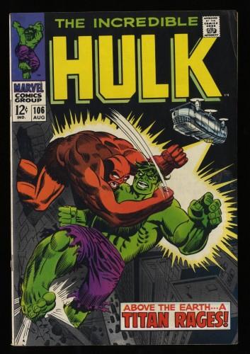 Incredible Hulk (1968) #106 VG+ 4.5 Marvel Comics
