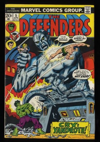 Defenders #5 FN 6.0 Marvel Comics