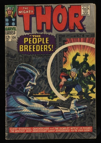 Thor #134 VG/FN 5.0 Marvel Comics 1st High Evolutionary!