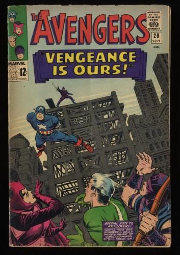 Avengers #20 VG- 3.5 Marvel Comics Thor Captain America