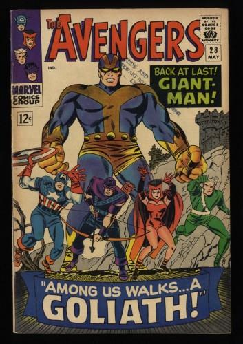 Avengers #28 FN 6.0 Marvel Comics Thor Captain America 1st Collector!