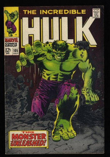 Incredible Hulk (1968) #105 FN+ 6.5 Marvel Comics 1st Missing Link!