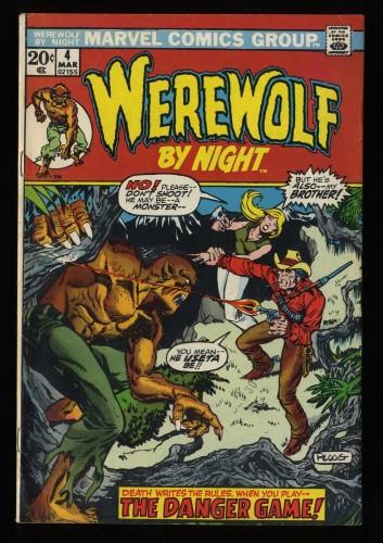 Werewolf By Night #4 VG 4.0