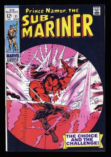 Sub-Mariner #11 VF+ 8.5 Marvel Comics