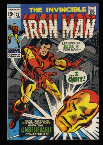 Iron Man #21 FN- 5.5 Marvel Comics