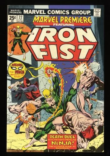Marvel Premiere #22 VF+ 8.5 Comics Iron Fist!