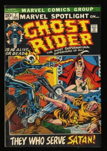Marvel Spotlight #7 FN- 5.5 Comics Ghost Rider!
