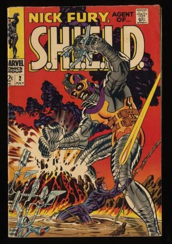 Nick Fury, Agent of SHIELD #2 GD 2.0 Marvel Comics