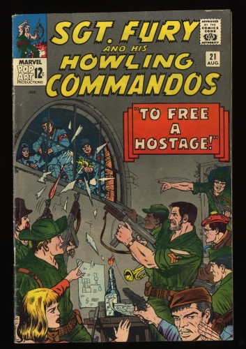 Sgt. Fury and His Howling Commandos #21 FN 6.0 Marvel Comics