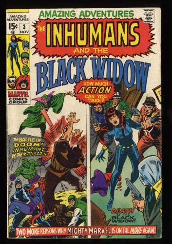 Amazing Adventures #3 VG 4.0 Inhumans Black Widow!