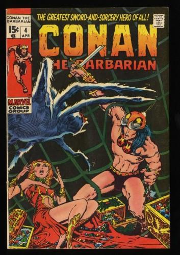 Conan The Barbarian #4 VG 4.0 Marvel Comics