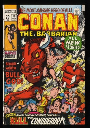 Conan The Barbarian #10 VG/FN 5.0 White Pages Marvel Comics