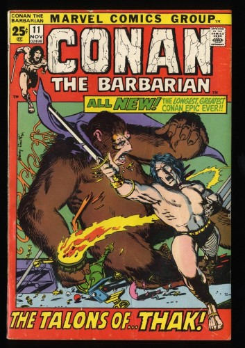 Conan The Barbarian #11 VG+ 4.5 Marvel Comics