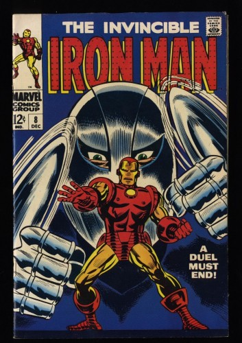Iron Man #8 VF 8.0 White Pages
