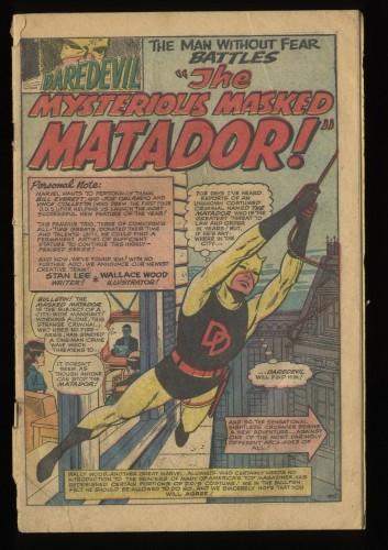 Daredevil #5 Inc 0.3 Marvel Comics 1st Matador!