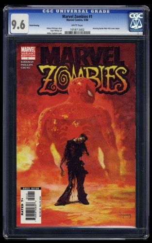 Marvel Zombies #1 CGC NM+ 9.6 White Pages 3rd Printing! Spider-Man #50 Homage!
