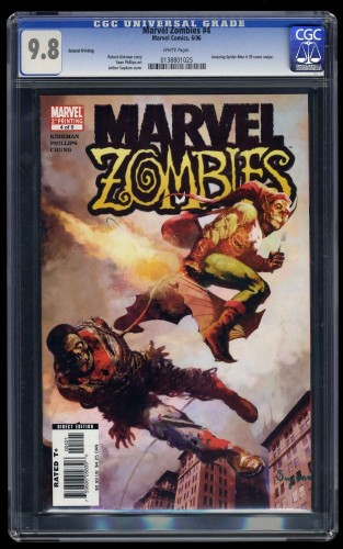 Marvel Zombies #4 CGC NM/M 9.8 White Pages 2nd Print Spider-Man #39 Cover Swipe!
