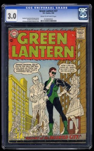 Green Lantern #27 CGC GD/VG 3.0 Cream To Off White DC Comics