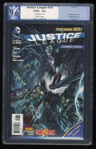 Justice League #10 PGX NM+ 9.6 Variant Cover!