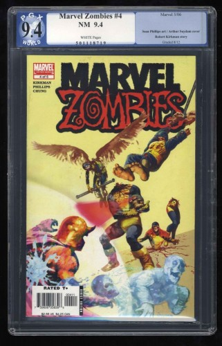 Marvel Zombies #4 PGX NM 9.4 WHITE Pages