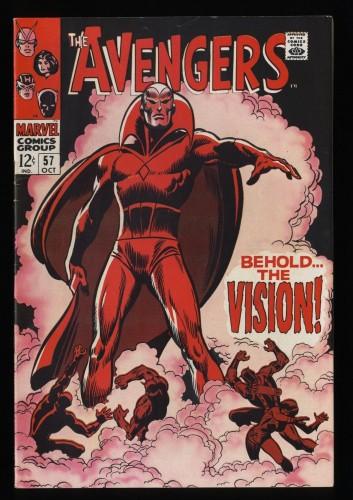 Avengers #57 VF 8.0 Off White to White 1st Vision!