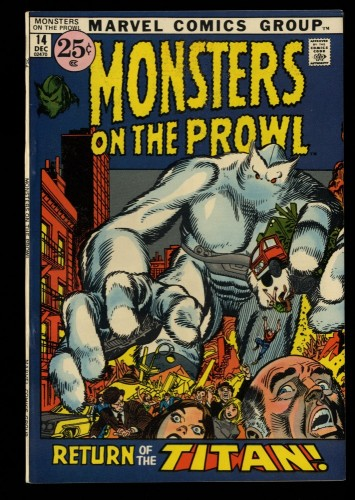 Monsters on the Prowl #14 VF+ 8.5