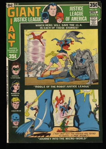 Justice League Of America #93 NM 9.4 DC Comics