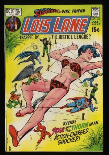 Superman's Girl Friend, Lois Lane #111 VF 8.0 Classic Bondage Cover!