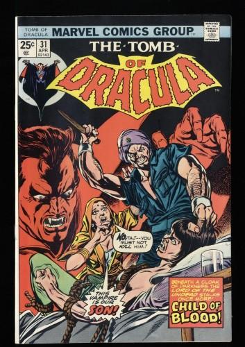 Tomb Of Dracula #31 NM- 9.2 Marvel Comics